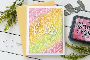 Hello card by Cathy Zielske