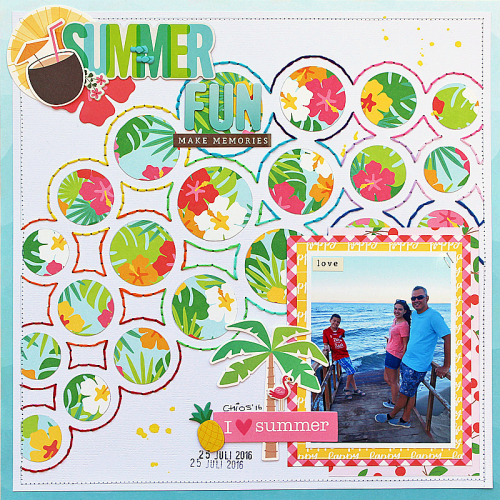 Summer Fun by Monique Lietdke for Scrapbook & Cards Today magazine