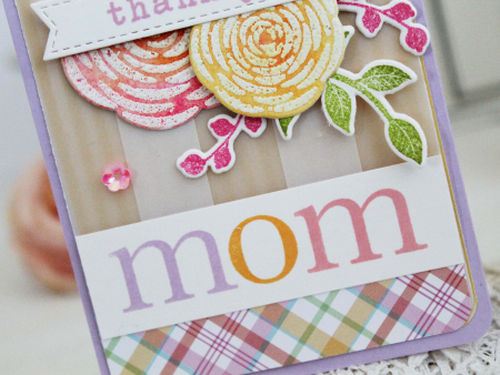 Thank You Mom card by Melissa Phillips for Scrapbook & Cards Today
