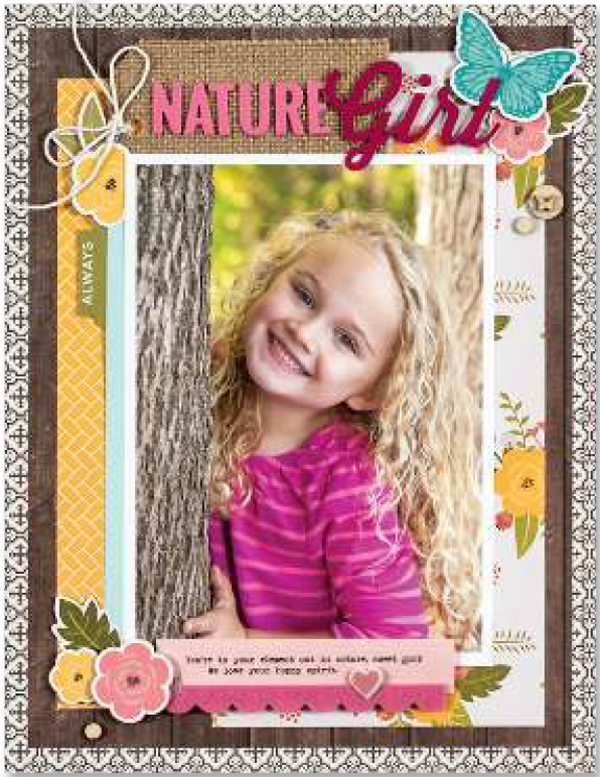 Nature Girl By Summer Fullerton - Fall 2017 Issue of Scrapbook & Cards Today