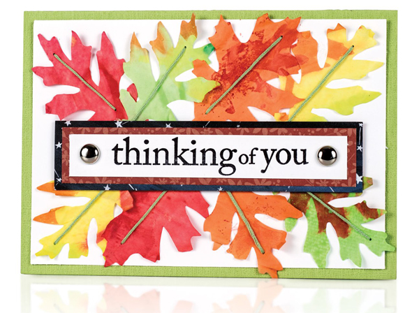 Thinking Of You card by Vicki Boutin - Fall 2017 Issue of Scrapbook & Cards Today