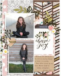 Choose Joy by Nicole Nowosad for Scrapbook & Cards Today magazine