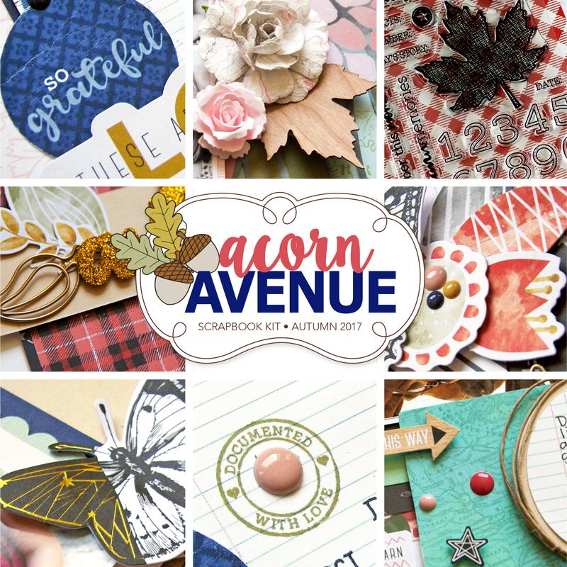 Acorn Avenue Scrapbook Kit