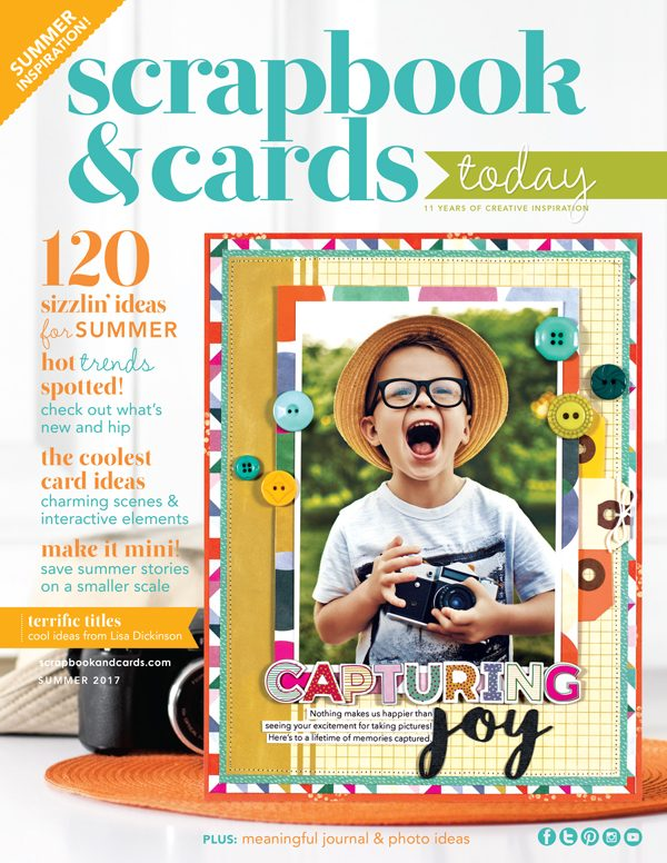 Scrapbook & Cards Today Summer 2017 Cover
