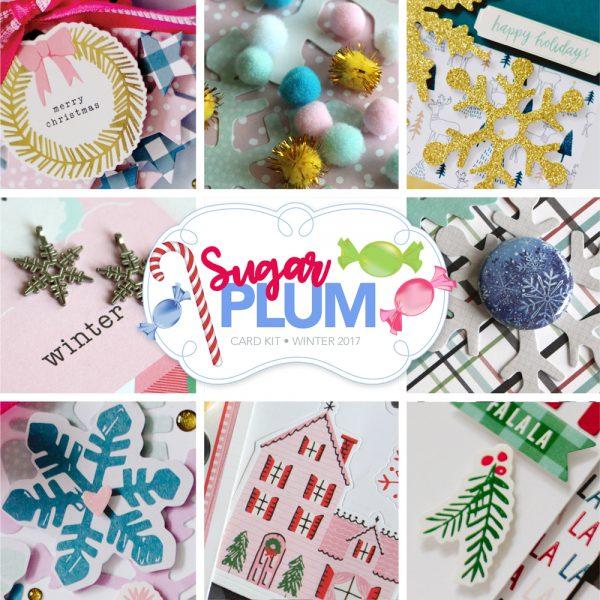 SCT Delivered Winter 2017 Card Kit - Sugar Plum