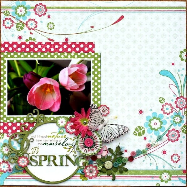 Spring layout by Janice Hobbins