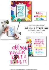 Brush Script Workshop with Amy Tangerine