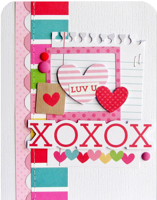 Love You card by Nicole Nowosad for Scrapbook & Cards Today magazine