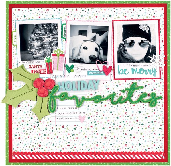 Holiday Favourites by Nicole Nowosad for Scrapbook & Cards Today magazine