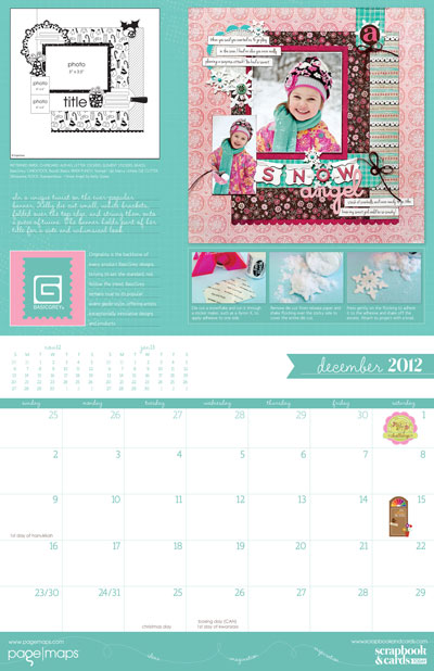 2013 PageMaps Sketch Calendar