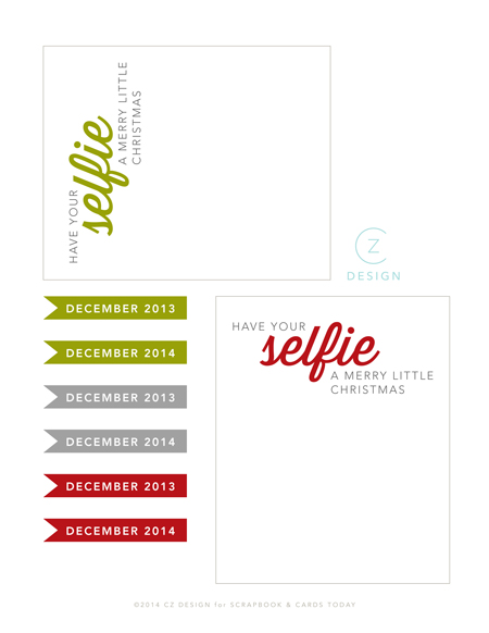 Selfie Journal Card and Flags Printable