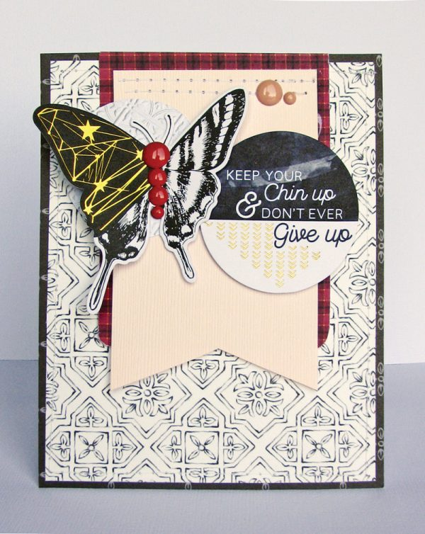 Chin Up card by Nicole Nowosad for Scrapbook & Cards Today magazine