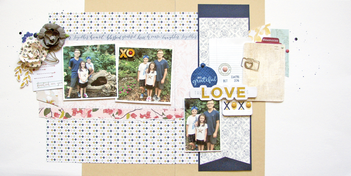 Love layout by Nicole Nowosad for Scrapbook & Cards Today magazine