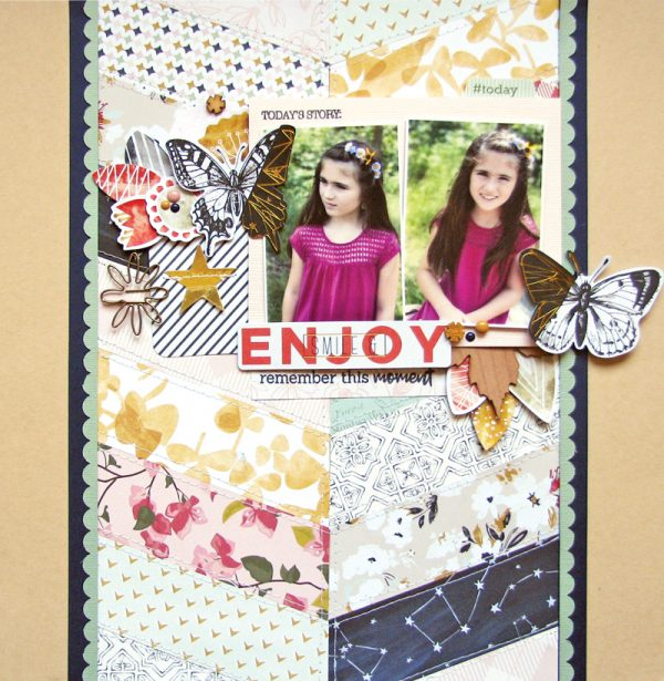 Enjoy layout by Nicole Nowosad for Scrapbook & Cards Today magazine