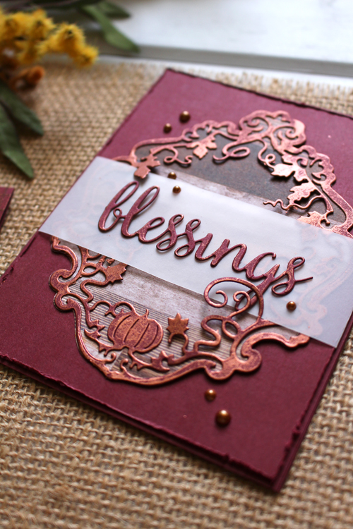 Fall Copper Cards Kimberly Crawford for Scrapbook & Cards Today magazine