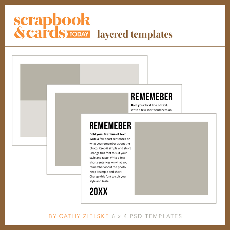 6x4 Mini Album Templates by Cathy Zielske for SCT Magazine