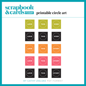 Printable Circle Art by Cathy Zielske