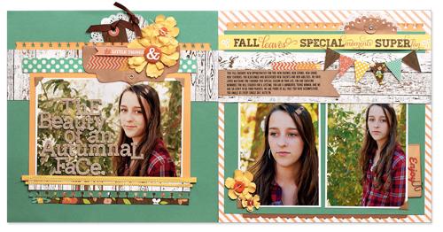 Autumnal Face by Jen Gallacher