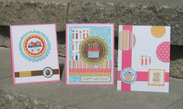 A trio of cards by Kerry McRorie