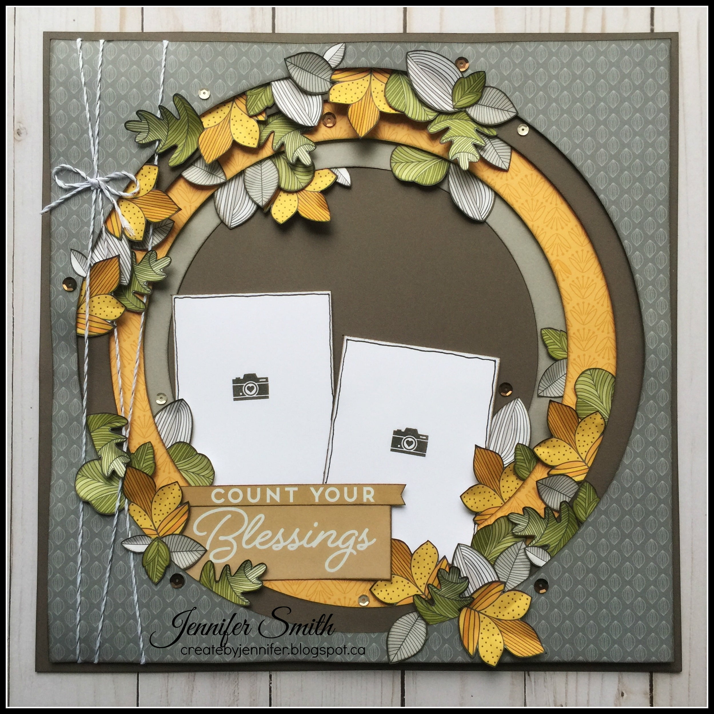 Count your blessings by Jennifer Smith for Scrapbook & Cards Today magazine