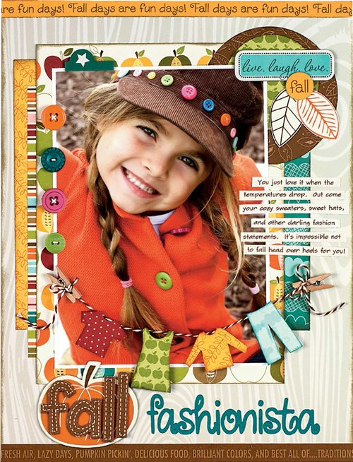 Fall Fashionista by Brenda Cazes