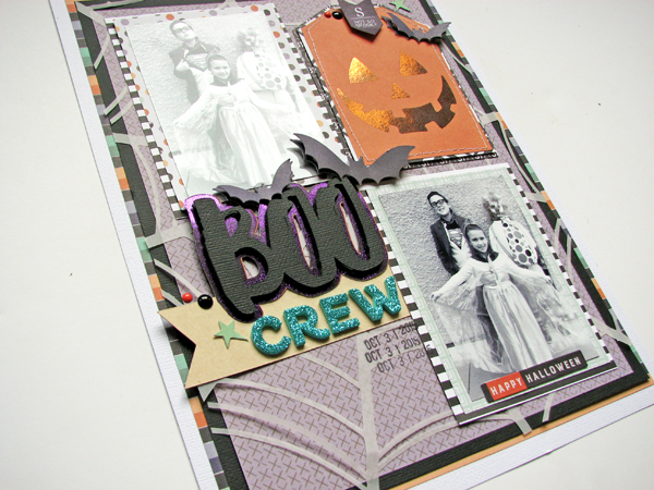 Boo Crew by Nicole Nowosad for Scrapbook & Cards Today magazine