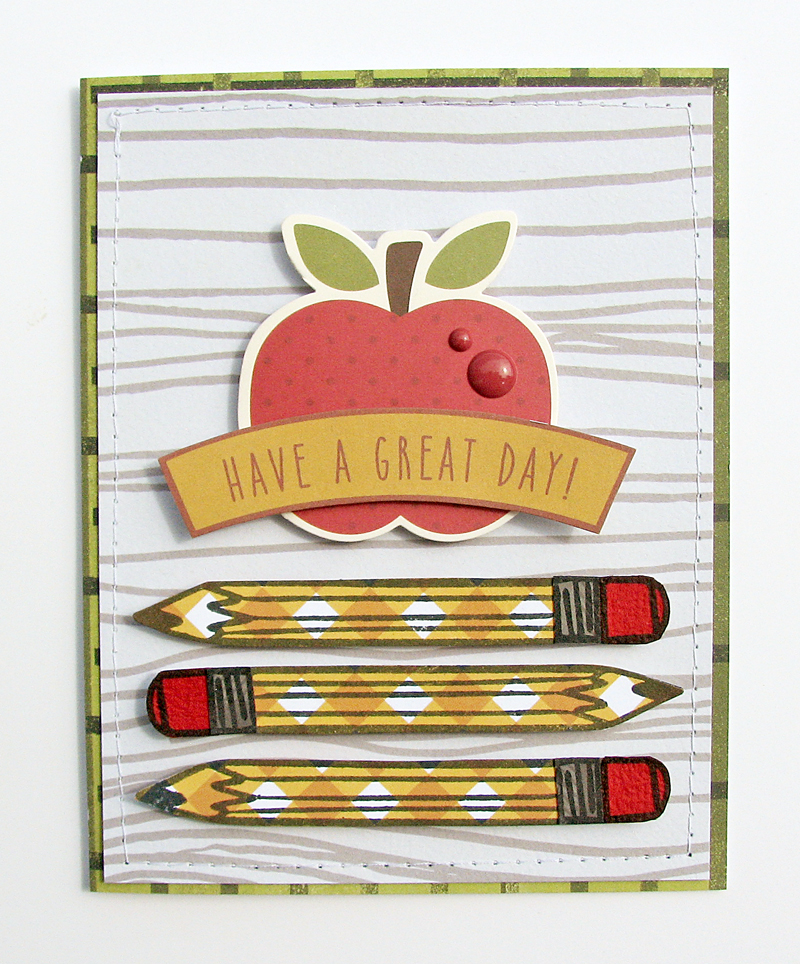 Great Day card by Nicole Nowosad for Scrapbook & Cards Today magazine