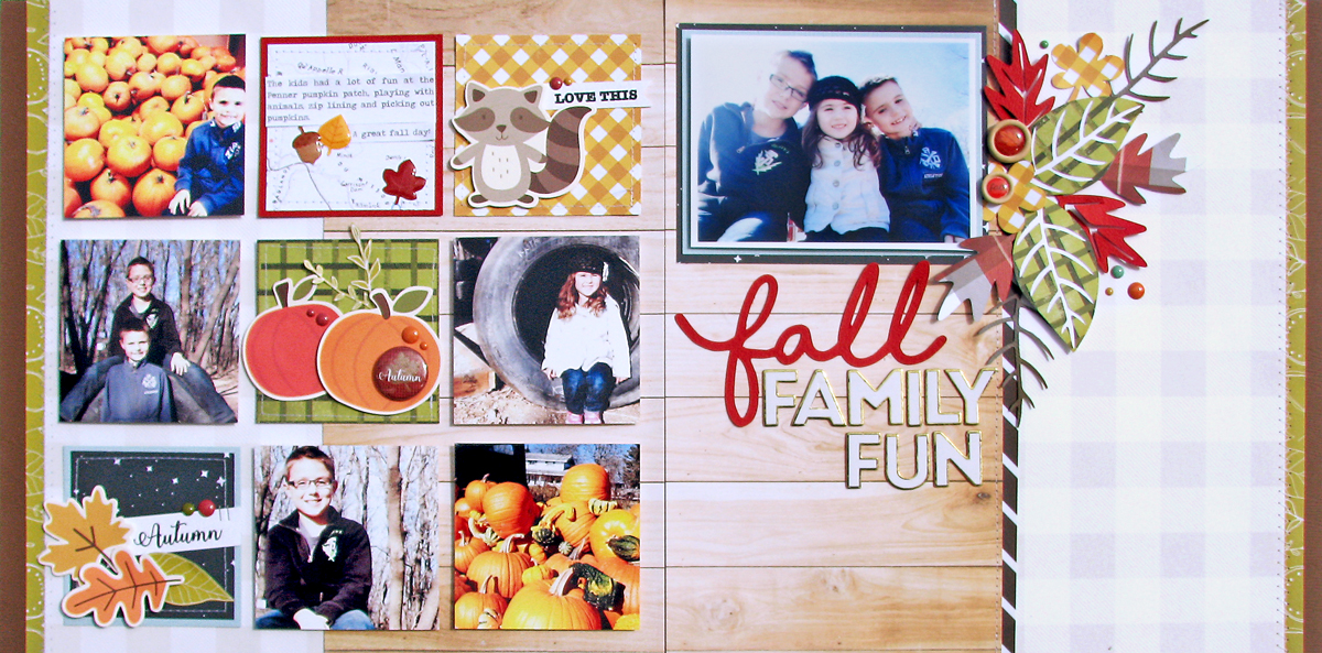 Fall Family Fun layout by Nicole Nowosad for Scrapbook & Cards Today magazine