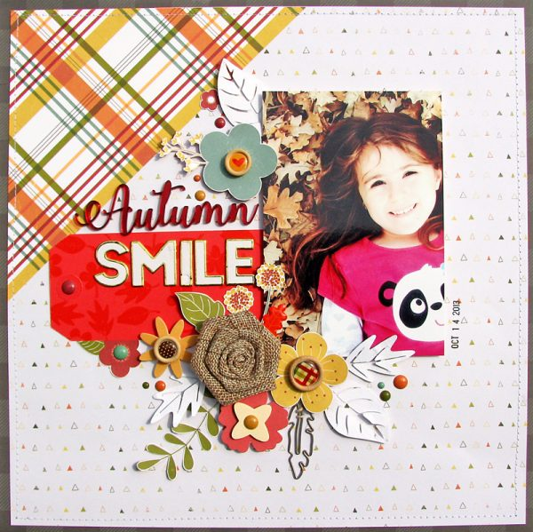 Autumn Smile layout by Nicole Nowosad for Scrapbook & Cards Today magazine