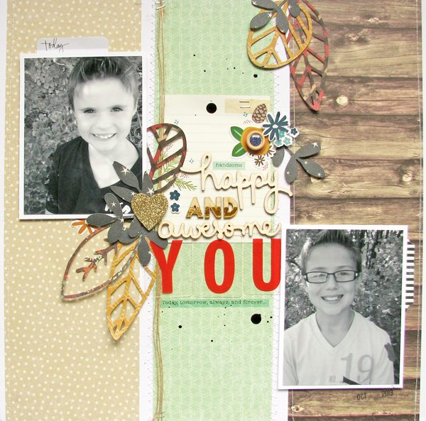 YOU layout by Nicole Nowosad for Scrapbook & Cards Today magazine