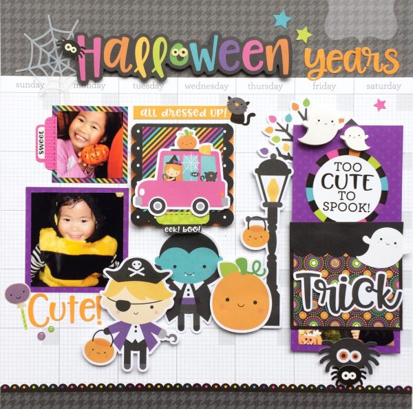 Virginia Nebel Halloween 5 for Scrapbook & Cards Today magazine