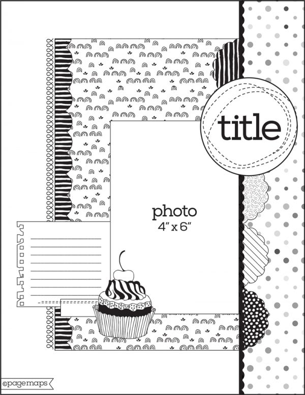 PageMaps sketch - Spring 2017 for Scrapbook & Cards Today