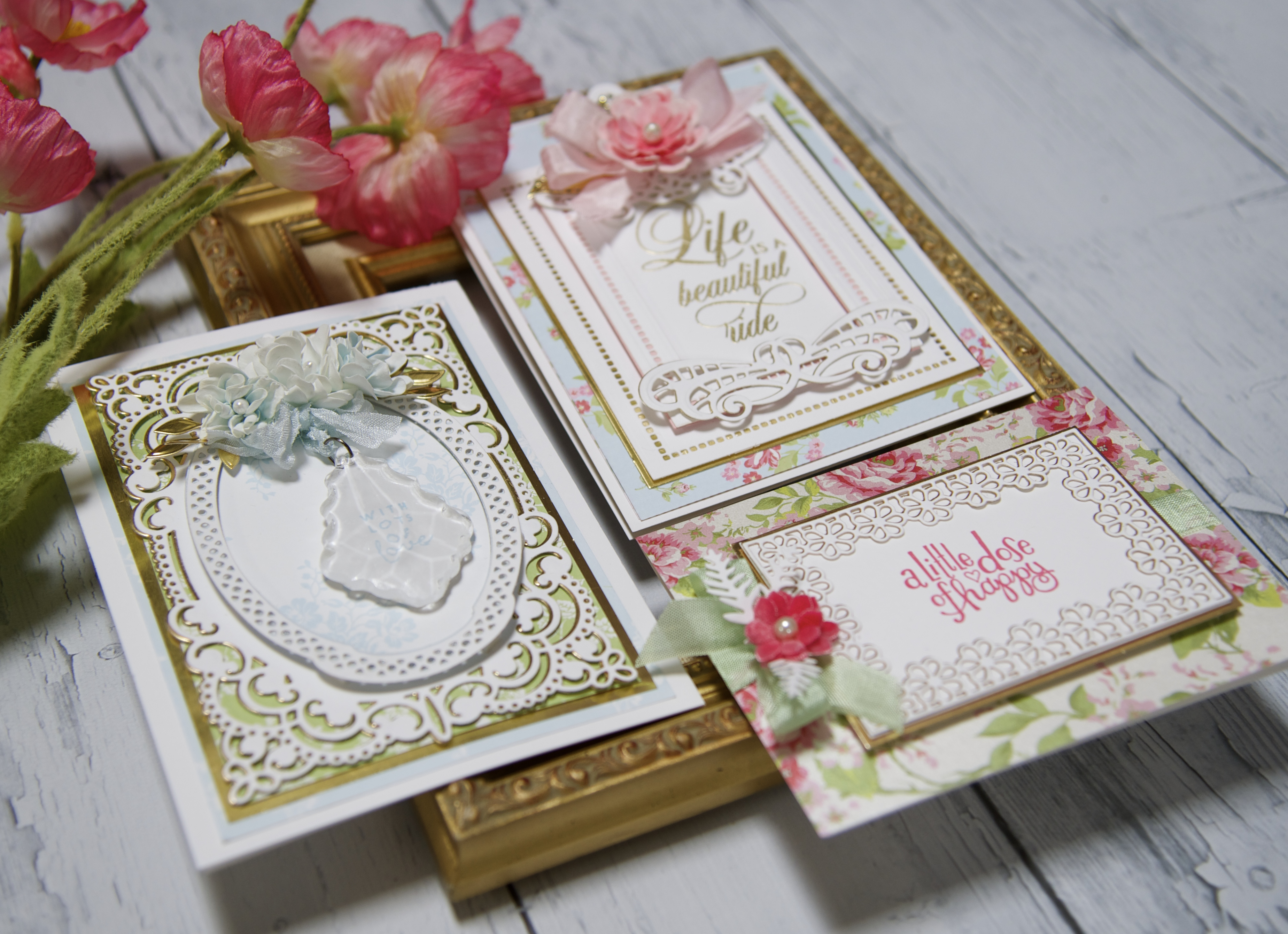 Elegant Paper Lace cards with Spellbinders