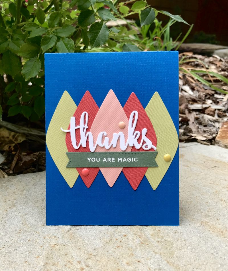Thank you card by Susan Opel for Scrapbook & Cards Today magazine