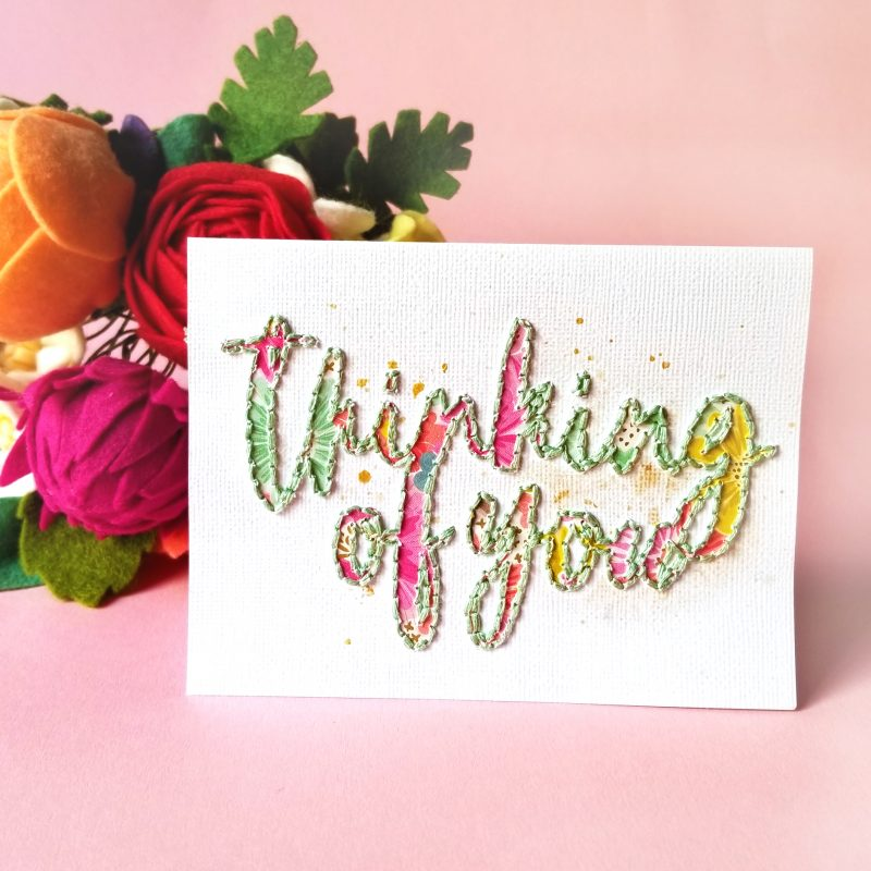 Thinking of you card by Paige Evans