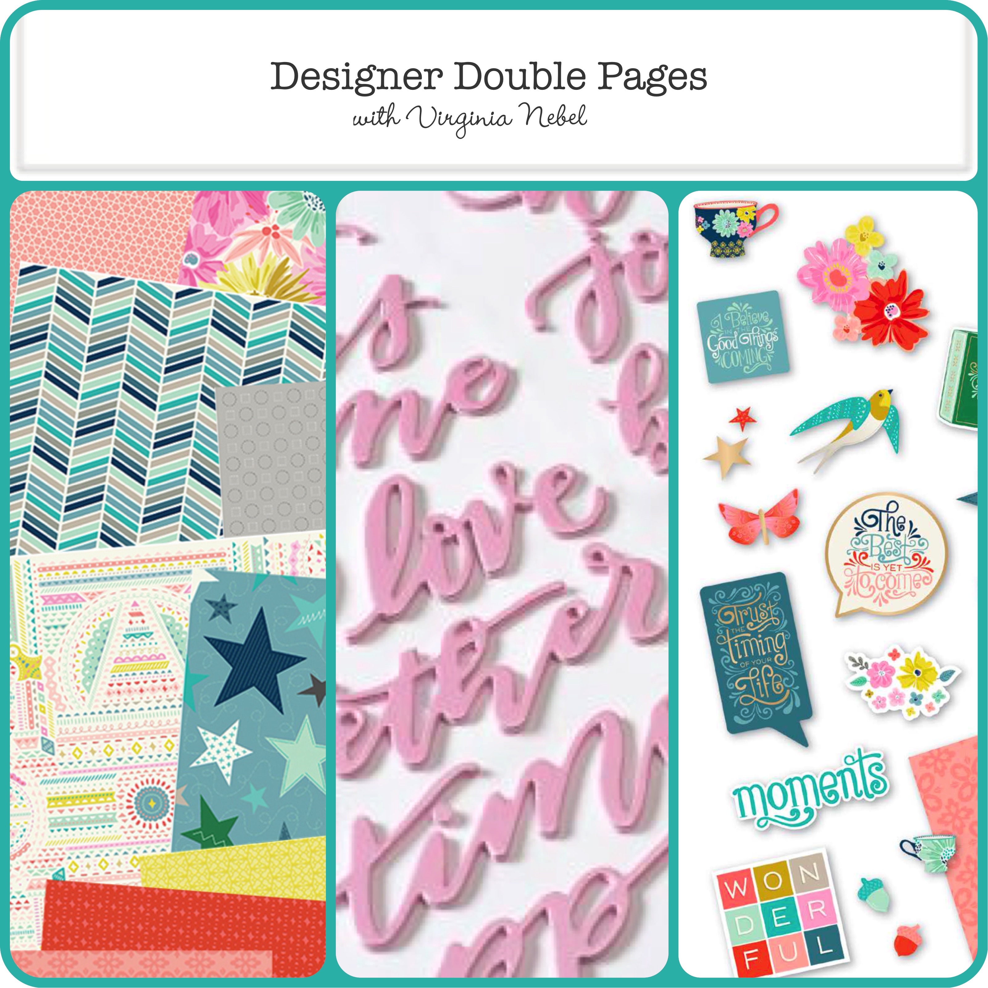Designer Doubles Pages with Virginia Nebel