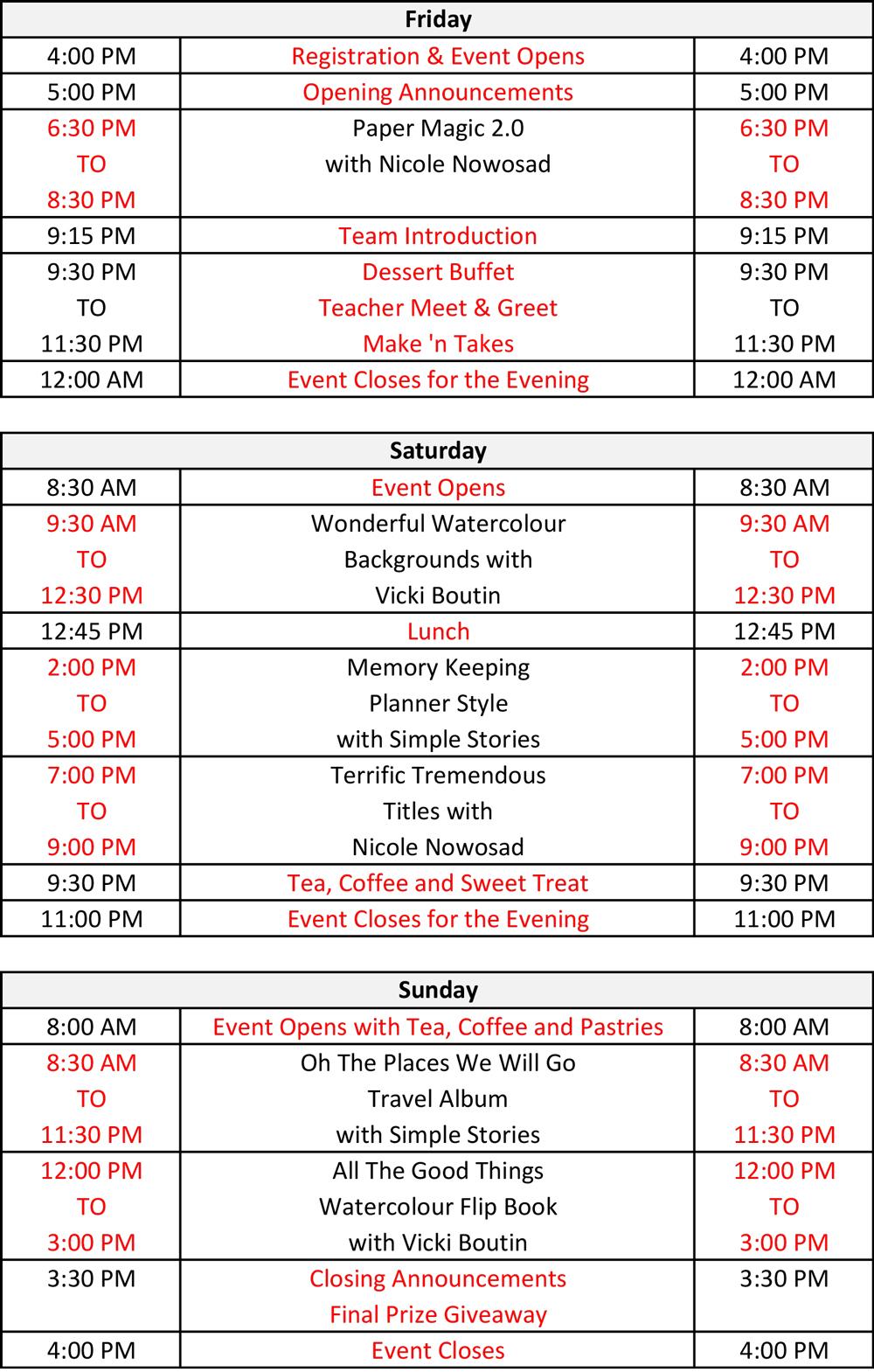Crop & Create Schedule