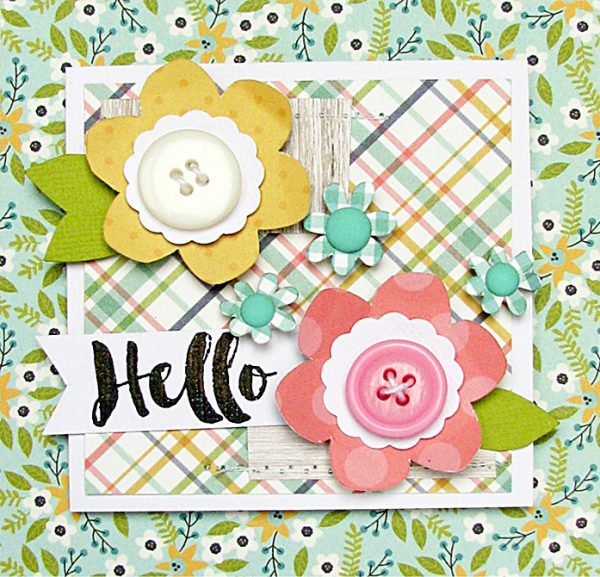 Hello card by Nicole Nowosad for Scrapbook and Cards Today Magazine