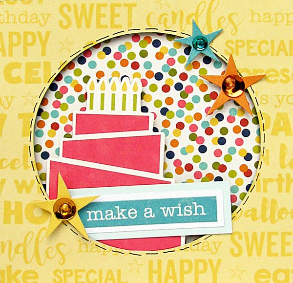 Make a Wish card by Nicole Nowosad for Scrapbook and Cards Today Magazine