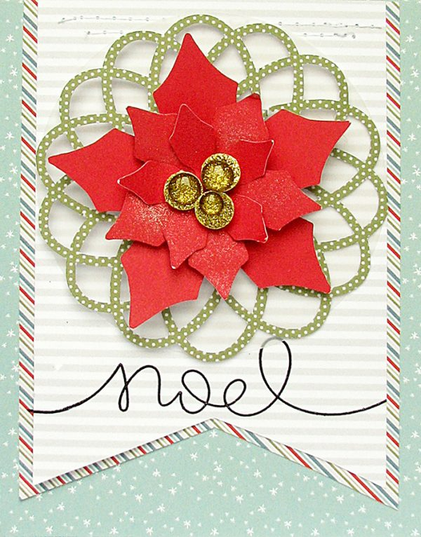 Noel card by Nicole Nowosad for Scrapbook and Cards Today Magazine