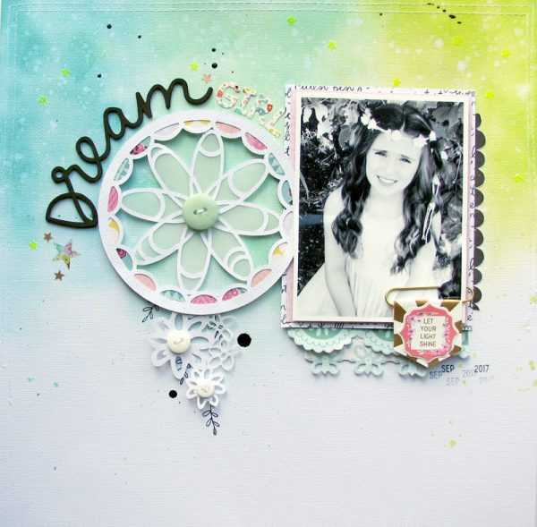 Dream Layout by Nicole Nowosad for Scrapbook and Cards Today Magazine