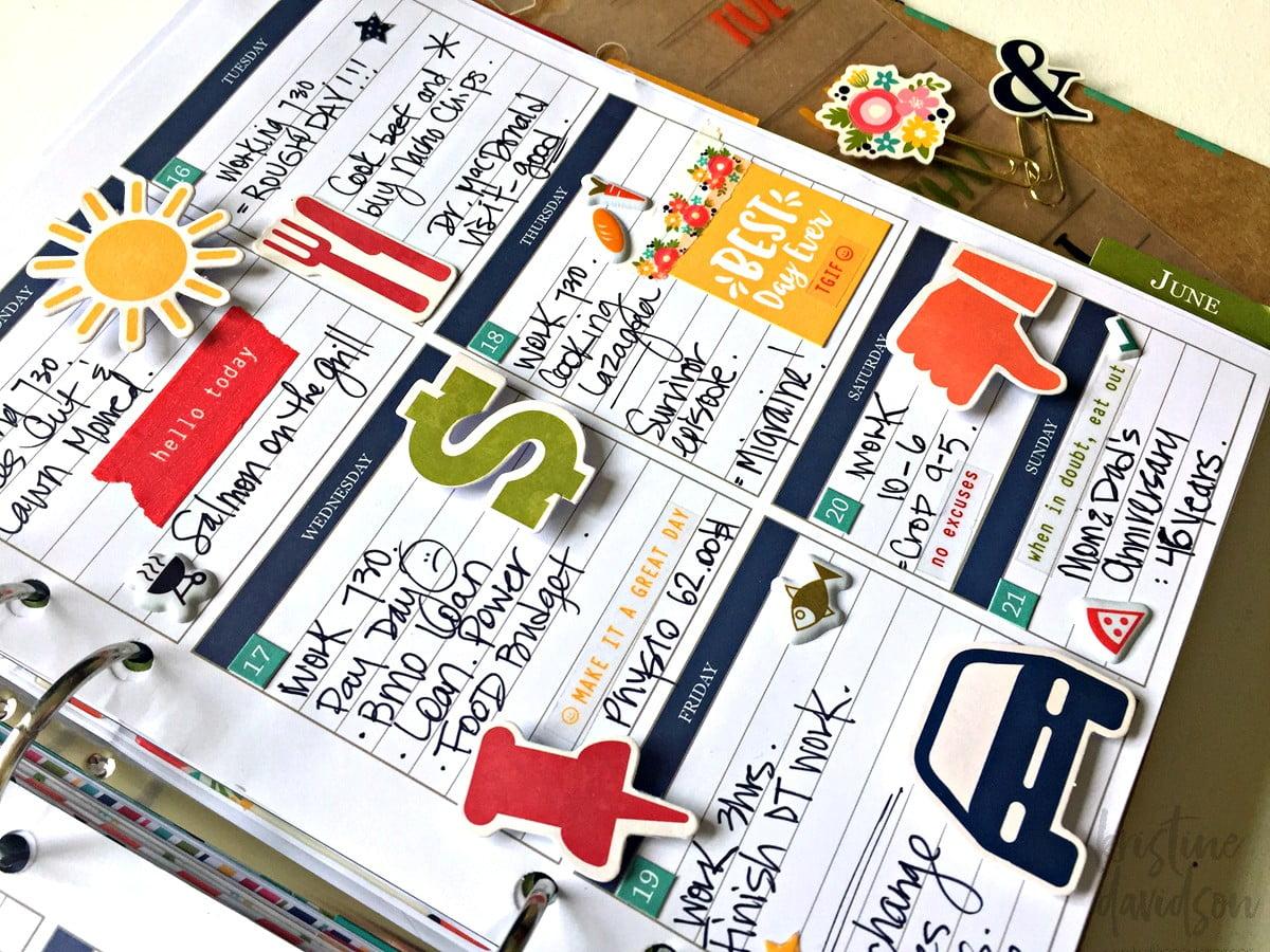 Weekly planner by Kristine Davidson - JIllibean Soup