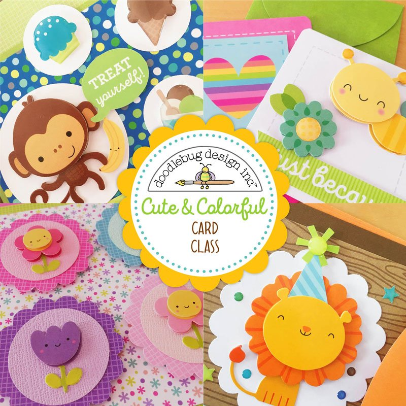 Cute & Colourful Card Class with Doodlebug Design
