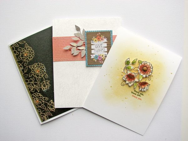 One Stamp Three Ways Card Set by Nicole Nowosad for Scrapbook & Cards Today magazine
