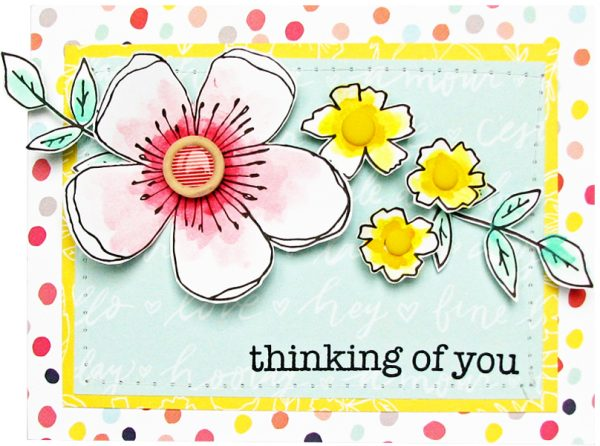 Thinking of You Card by Nicole Nowosad for Scrapbook and Cards Today Magazine