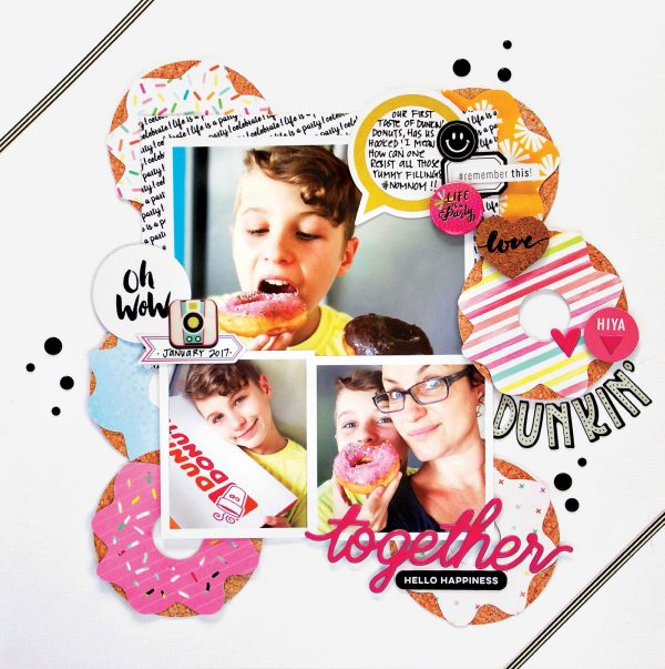 Dunkin Together by Kim Watson for Scrapbook & Cards Today
