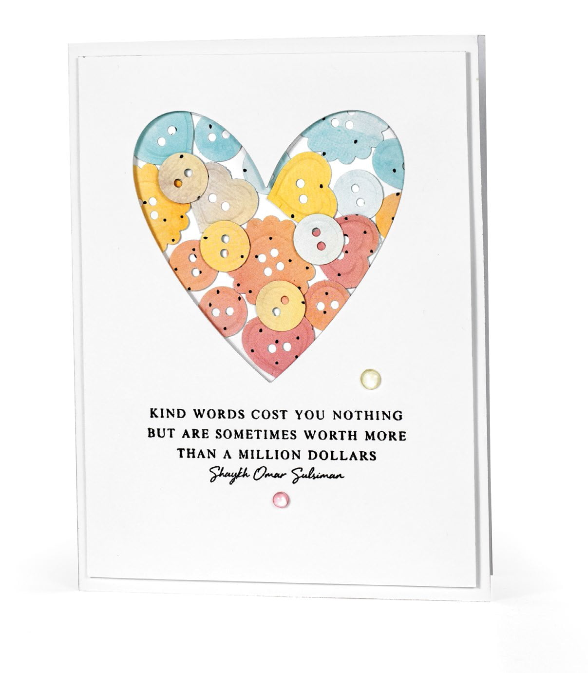 Kind Words card by Nancy Damiano for Scrapbook & Cards Today