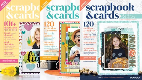 Scrapbook & Cards Today magazine - 2017 Covers