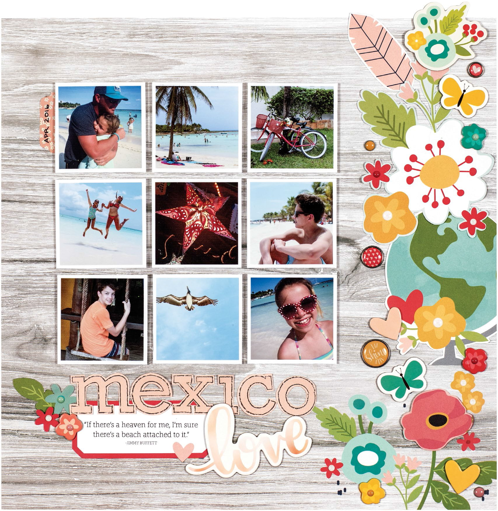 Mexico Love by Lisa Dickinson for Scrapbook & Cards Today