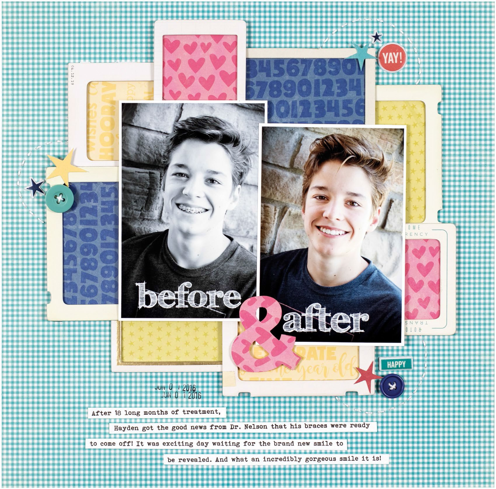 Before & After by Lisa Dickinson for Scrapbook & Cards Today